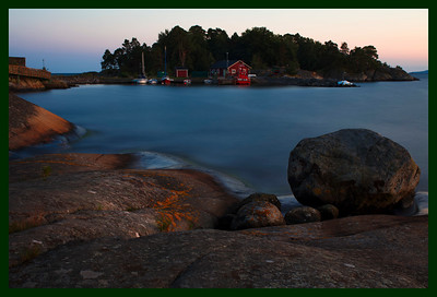 SUNSET ON THE COAST NEAR KARLSHAMN , SWEDEN