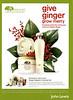 ORIGINS Ginger Delights Christmas set 2009 UK (John Lewis stores) 'Give ginger - grow merry'