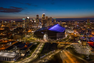 Minneapolis Skyline Aerial