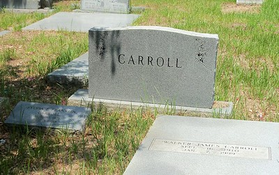 Former Principal WJ Carroll buried here  Daphne Intermediate school was named after him