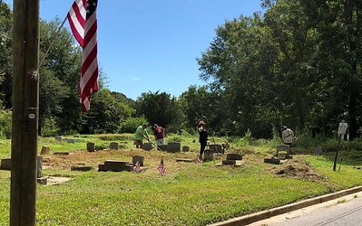 Sept 10, 2018 - Plaque unveiling and Flag Pole Dedication -AL National Guard d