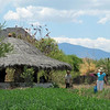 Tierra del Sol is in a lush valley. The thatched roof structure is space for group meetings. We gathered there when we first arrived and Pablo Ruiz, one of the founders of Tierra del Sol, explained the basic principles of Permaculture to us.