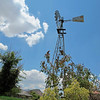 Windmill pumps water for the community