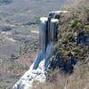 Petrified limestone waterfall at Hierve el Agua