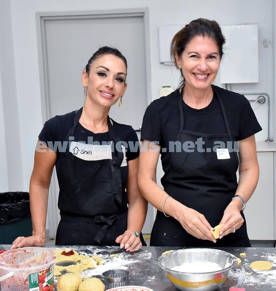 OBK Hamantashen Bake. Eitan Biton (left), Julia Singer. Pic Noel Kessel