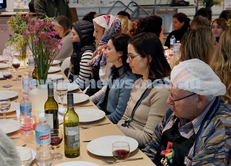 OBK Karma Cookup. Guests meditating before dinner.