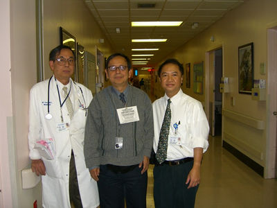 Dr Maung Yee , Saya and Peter , Coler-Goldwater Hospital  Roosevelt Island, NYC Dec 7 2005 photo credit: peter