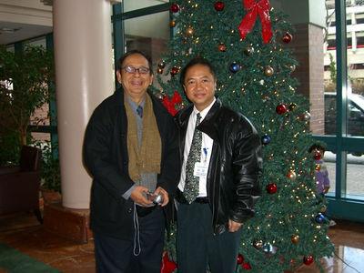 Saya Thaneoke Kyaw-Myint & Peter , Roosevelt Island NYC Dec 7, 2005 photo credit: peter