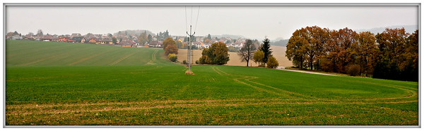 Podzimní krajina kolem Mladé Vožice