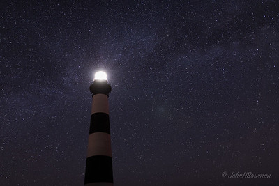 Milky Way at Bodie Island Lighthouse (NC, 2017; 4:39 EDT)