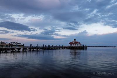 Roanoke Marshes Lighthouse, Manteo - dusk (7:15 EDT)