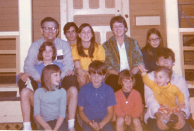 Back Row:  James F. O'Brien Jr, James F. O'Brien III, Beth, Therese B. (mom) and Josie O'Brien Middle Row: Kathleen & Greg O'Brien Front Row: Eileen, Bernie, Nora and Maureen O'Brien
