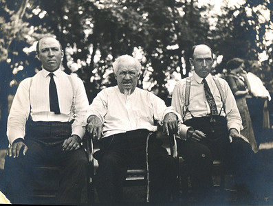 Uncle Austin (Dot), Great Great Grandpa James Harrington & sons, Uncle Ed  July 1, 1911