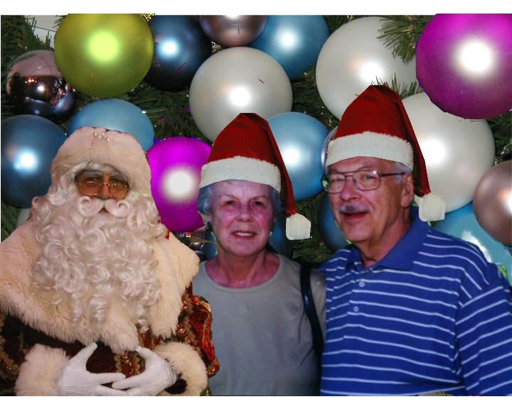 Santa with Mr. and Mrs. James F. O'Brien Jr.