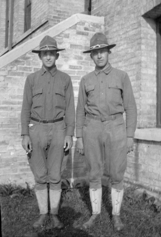 James F. O'Brien, Sr. on the right