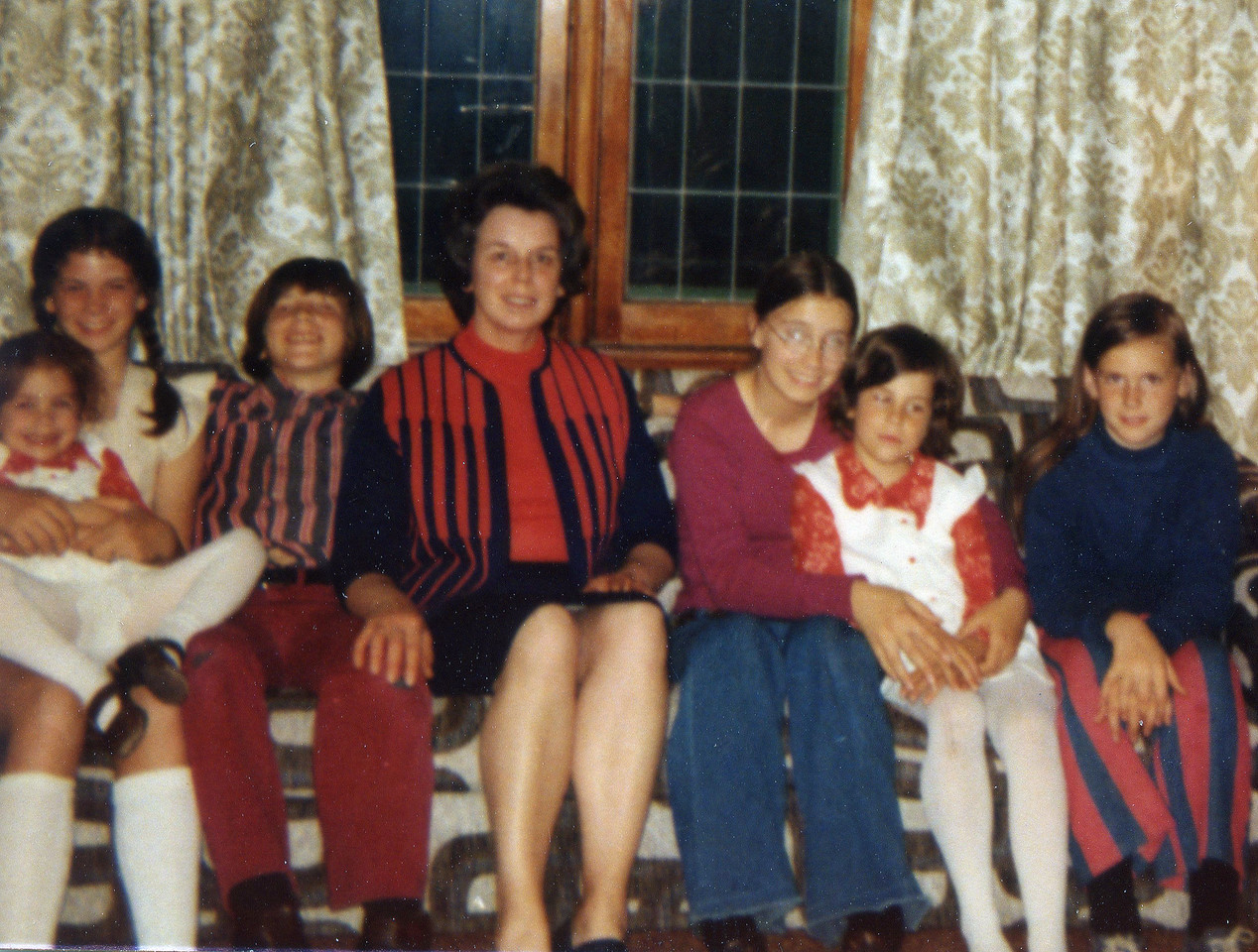 Left to Right: Kathleen & Maureen, Bernie, (Mom) Therese, Josie & Maureen and Eileen