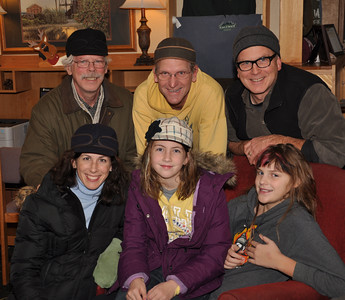 "Top Row:  Greg O'Brien, Tom Johnson and Bernie O'Brien Bottom Row:  Moe O'Brien, Sara O'Brien and Molly Johnson  (""Stormy Kromer"" Hats)"