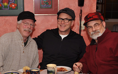 "Greg, Bernard and Jim O'Brien  (Wearing ""Stormy Kromer"" Hats)"