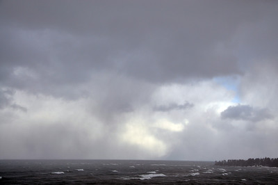 Approaching Storm on Lake Superior On the way to Copper Harbor M-26 Eagle River December 7, 2011