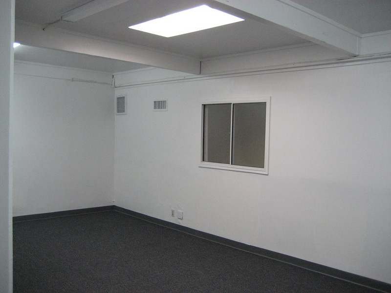 upstairs offices with natural light (sky lights) and windows to the warehouse.  Brand new HVAC, heating ventilation and air condition served to the offices.