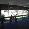 Second floor glass line overlooking the freeway