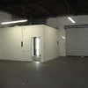 Santa Ana Warehouse. Great square shaped warehouse space with front loading truck doors.