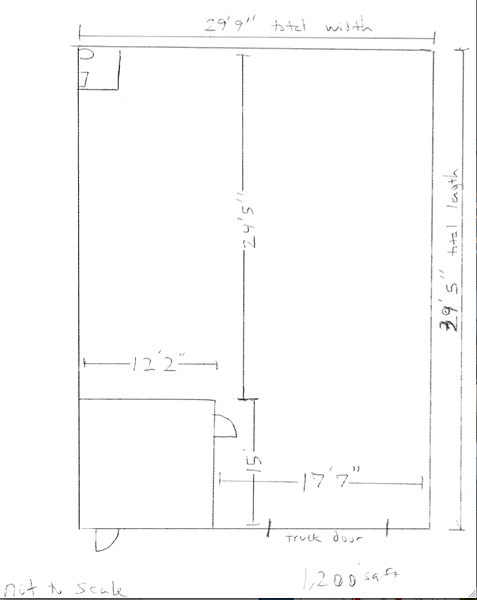 floor plan with measurements - no guarantees made.