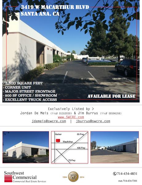 3419 W MacArthur Blvd. Santa Ana CA