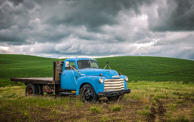 Blue Truck - Honorable Mention - by Bob Oehlman