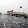 August 27, 2011 - 12:30pm - Ocean City, NJ as Hurricane Irene Approaches<br /> <br /> View of Boardwalk North from 12th Street . . .  Boardwalk empty except for a few hanger-ons