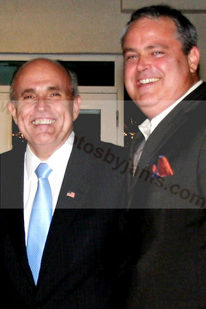 01 PRESIDENTIAL CANDIDATE Rudolph W  Giuliani and Mark Spillane at The DON Room