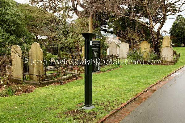 NEW ZEALAND, Wellington. Hort Lawn Jewish cemetery, Bolton Street Memorial Park. (8.2010)
