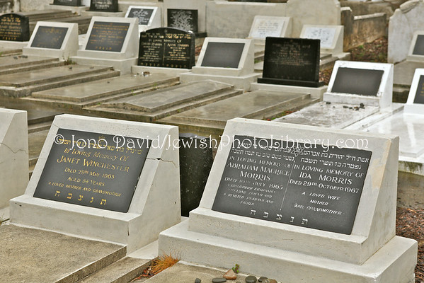 NEW ZEALAND, Wellington. Jewish sector, Karori Cemetery. (8.2010)