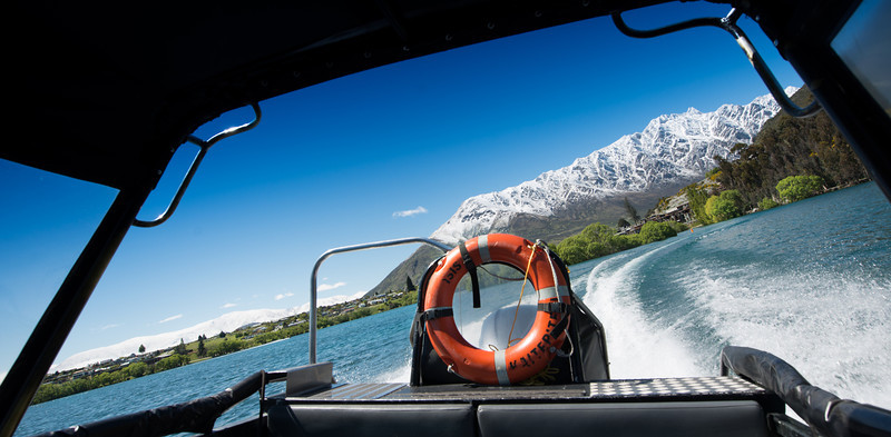 The water taxi from the hotel to downtown Queenstown, New Zealand<br /> Monday October 28th, 2013