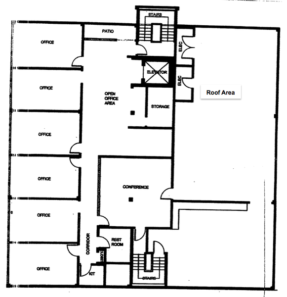 Top Floor (4th floor) office floor plan