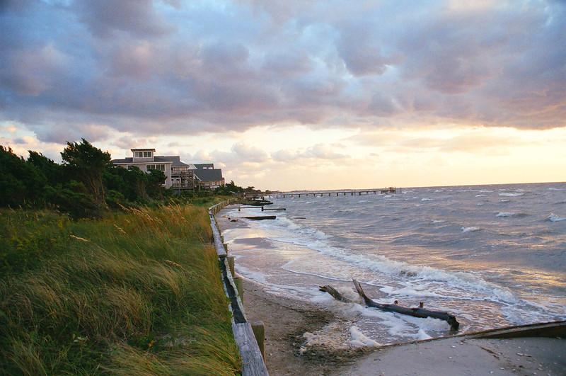 Ocracoke - Leslie's House on a Stormy Day on the Sound