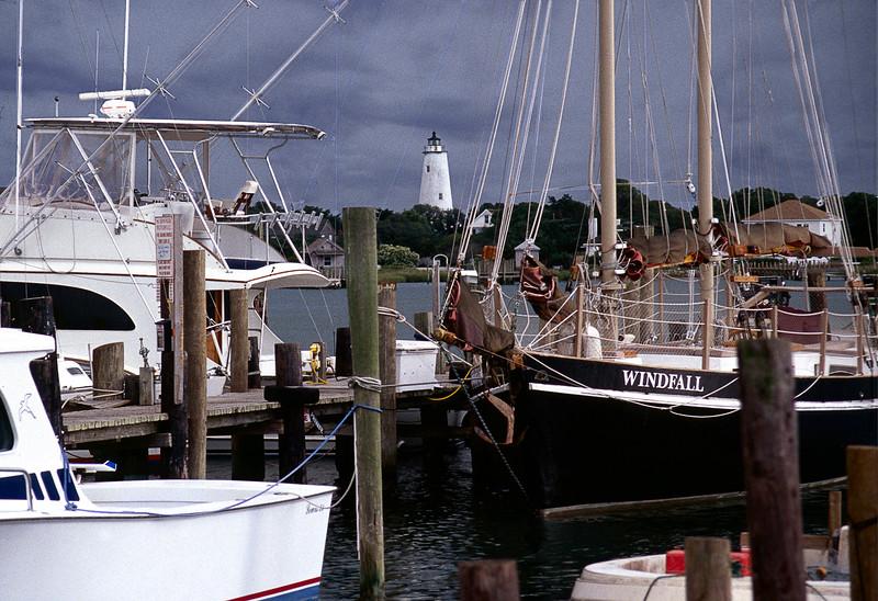 Ocracoke Harbor - Storm Brewin'