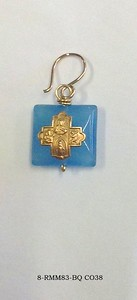 8-RM83-BQ CO38  CROSS ON BLUE QUARTZ