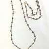 7-RM265/34R CO85  STERLING CROSS ON BRONZE CROSS ON PYRITE ROSARY CHAIN