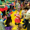 "Kevin Harvison | Staff photo<br /> Staff and students at Washington Early Childhood/Kibios Head Start Center ""buggie"" during the schools Halloween Dance Tuesday."