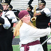 KEVIN HARVISON | Staff photo<br /> Members of the Beggs Marching Band perform during the 3A Regional Band Competition at Hook Eales Stadium Wednesday.