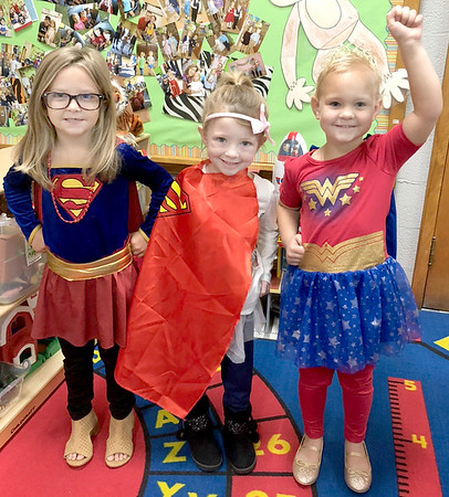 SUBMITTED Photo   <br /> Jefferson Early Childhood Center students pose for a photo during Super Hero Day of Red Ribbon Week.