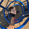 KEVIN HARVISON | Staff photo<br /> Parker 6th grade student James Barr Jr. takes advantage of some free time and the new playground equipment at Parker Intermediate School.