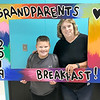 KEVIN HARVISON | Staff photo<br /> Pictured from left, Jackson Miller and his grand mother Janai Miller, pose for a photo before the start of the 2019 Parker Middle School Grand Parents Breakfast Thursday morning.