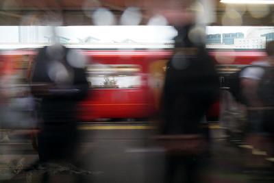 Passengers Waiting at Vauxhall Station