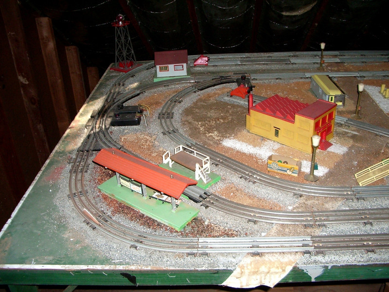 Lionel trains  set up sometime during mid 1950's