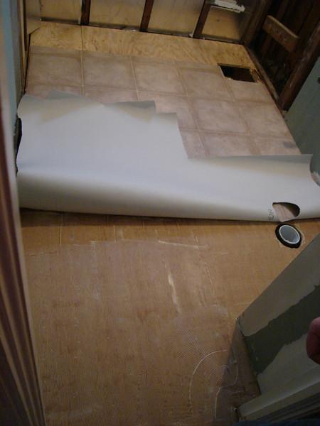 New one piece linoleum install.<br /> 270 E. 322 st.  Bathroom complete remodel Jan. 2010