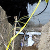 "FRONT SEWER TIE IN ALSO NEW GAS LINE TIED TO OLD GAS LINE. NEW GAS LINE IS PLASTIC, SO IT WAS STRAPPED TO OLD GAS LINE ""METAL"" TO FIND NEW GAS LINE."