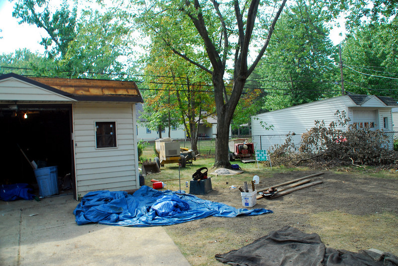 rear yard during constuction 9-3-2008