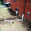 waterproofing shoreline concrete willowick french drain rear